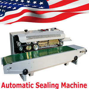 Auto Sealing Machine Horizontal Continuous Plastic Bag Band Sealer 500w 110v
