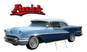 1955 Oldsmobile Super 88 New Rocker Panel Moldings With Clips