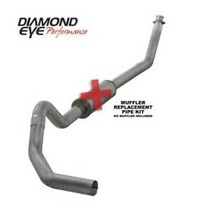 Diamond Eye Single 4 Turbo back Exhaust No Muffler For Dodge Cummins 5 9l 94 02