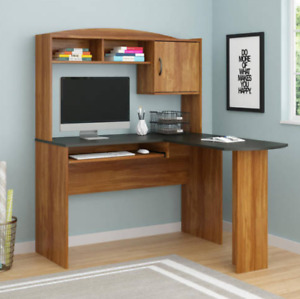 Corner Desk Set Small Desktop Computer Desks L Shape Organizer Storage Standing