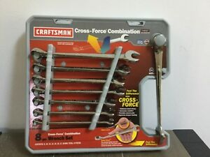 Craftsman Usa Made Cross Force Metric Combination Wrench Set 46521 Polished Mm
