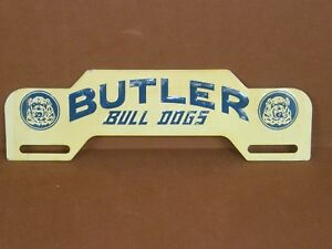 Vintage Original Butler Bull Dogs College License Plate Topper