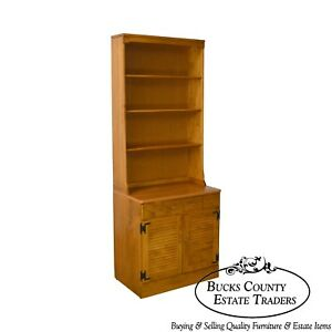 Ethan Allen Custom Room Plan Maple 2 Piece Bookcase Cabinet