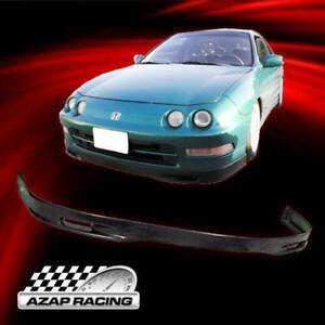 94 97 Spoon Style Black Poly Urethane Front Bumper Lip Spoiler Fit Acura Integra