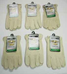 Lot Of 6 Pairs Of Wells Lamont Corp 1133l Mens Grain Pigskin Leather Work Gloves