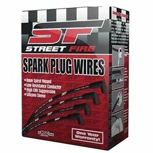 Msd 5541 302 351w Ford Windsor Performance Spark Plug Wires 8mm Street Fire Hei