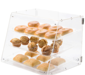 Food Display Case Dessert Pastry Commercial Cases Clear Plastic Donut Deli Cold