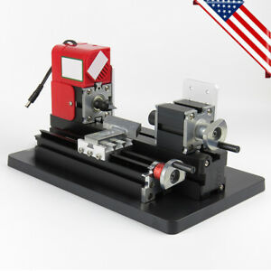 Mini Metal Working Lathe Motorized Machine Craftsman Metal Wood Lathe 12v Dc Usa