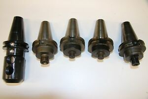 5 Used Mixed Lot Of Cat 40 Tool Holder 17367