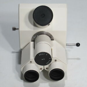 Carl Zeiss Trinocular Microscope Head W Photo Tube 451321