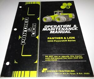Steiger Panther Lion 1000 Powershift Series Tractor Operation Operators Manual