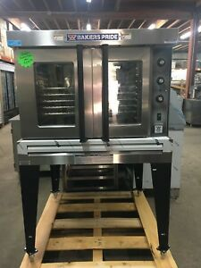 Bakers Pride Single Gas Convection Oven New 5 Trays Bake Bread Roast Even Heat