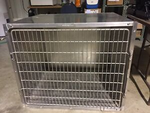 Shor line Stainless Steel Kennel Cages 36x29x30 Cat Dog Grooming Used