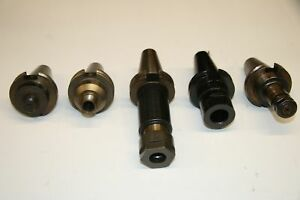 5 Used Mixed Lot Of Cat 40 Tool Holder 17371