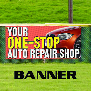 Your One Stop Auto Repairs Shop Promotion Business Advertising Vinyl Banner Sign