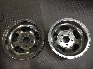 2 Vintage 1960 S 1970 S 14x8 Ansen Sprint Rims 5x4 75 Gm Mag Slot Wheels