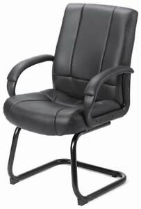 Vinyl Conference Room Chair In Black id 10245