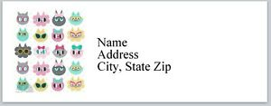Personalized Address Labels Cute Cat Faces Buy 3 Get 1 Free bx 346