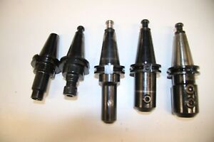 5 Used Mixed Lot Of Cat 40 Tool Holder 17387