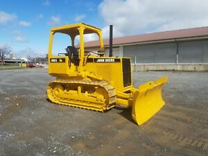 1988 John Deere 450g Bull Dozer 6 Way Blade Diesel Power Shift Tractor Machine