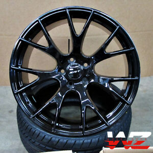 20 Hellcat Style Wheels Gloss Black Fits Awd Dodge Charger Challenger 30 Et