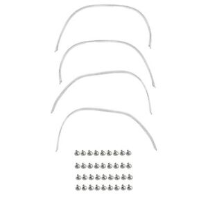 68 69 Charger Wheel Trim Moldings Stainless Front rear right left 4 Pieces Set