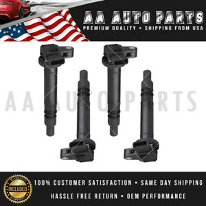 Pack 4 Ignition Coil For Toyota Tacoma 2000 2001 2002 2003 2004 2 4l 2 7l Uf323