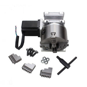 Cnc A 4th Axis Gearbox Router Rotary 4 Jaw 100mm Chuck 20 1 Engraving Machine