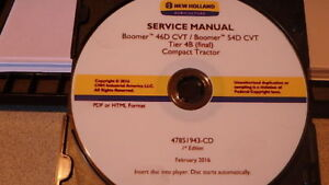 2016 New Holland Boomer 46d 54d Tier 4b Tractor Service Manual On Cd Cd14