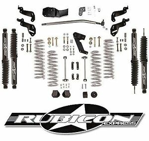 Rubicon Express 3 5 Sport Lift Kit Twintube Shocks 07 18 4 Door Jeep Wrangler