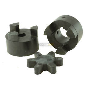 1 X 1 Shaft Flexible Jaw Coupler Rubber Spider 3 Piece L100 Lovejoy Coupling