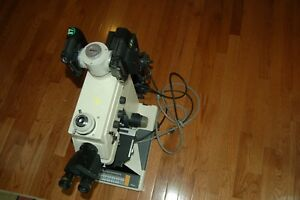 Nikon Microphot Fx Microscope With Cfw10x Eye Pieces Lamps