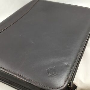Franklin Covey Full Grain Nappa Brown Leather Zip Around Day Planner 1 5 Binder