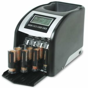 Automatic Coin 4 Row Counter Machine Sorter Change Money Roller Lcd Anti jam New