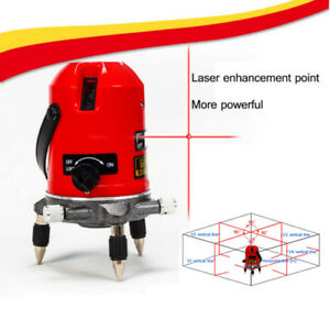 5 Line 6 Point Automatic Self Leveling Rotary Laser Level Meter Measure Toolbox