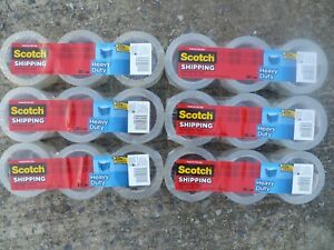 18 Rolls Scotch Heavy Duty Shipping Packaging Tape 1 88 Inches 43 7 Yards 3850