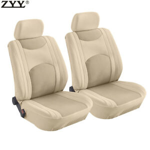 9pcs New Universal Beige Airbag Split Bench Headrest Front Rear Seat Covers
