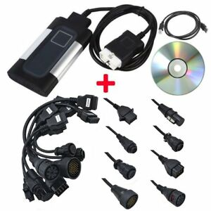 Tcs Cdp Pro Plus For Autocom Car Auto Obd2 Diagnostic Tool 8pcs Truck Cable Us