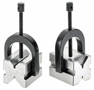 A One Precision v Block Set 4 7 8 X 3 1 2 X 2 3 4 V Block Clamp Double Sided