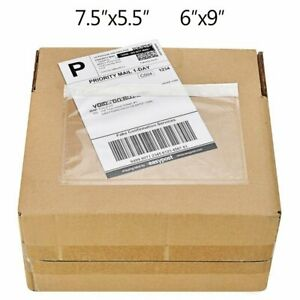 7 5 x5 5 6 x9 Clear Packing List Invoice Shipping Label Self Envelopes Pouches