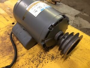 Ammco Electric Motor 2165 Marathon 1 Hp Brake Lathe Motor With Pulley For 7000