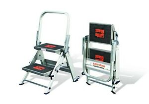 New Little Giant Safety Step Two Step Ladder Type Ia W Bar 10210ba A90