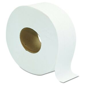 2 ply Jumbo 9 Roll Toilet Paper Tissue Commercial Bathroom Office 12 Pack Large