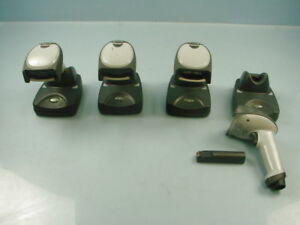 Lot Of 4 Hhp Hand Held Products Sr It5600 Usb Barcode Scanner W Stand For Parts