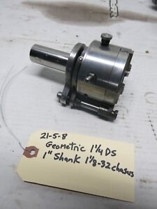 Geometric 1 1 4 Ds Threading Die Head With 1 Shank