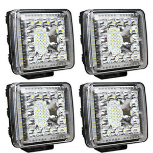 4x 4inch 480w Spot Led Driving Work Light Bar 4x4wd Truck Offroad Pods Atv Suv
