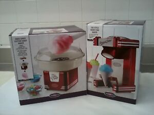 1950 s Style Snow Cone Cotton Candy Maker Machines Nostalgia Vintage Lot Of 2