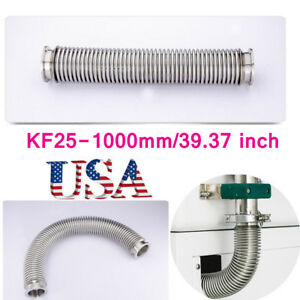 Usa Vacuum Bellows Hose Metal Kf 25 39 37inch 1000mm Tubing Iso kf Flange Nw 25