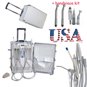 Portable Delivery Unit Case Compressor Dental Equipment Scaler Handpiece Kit