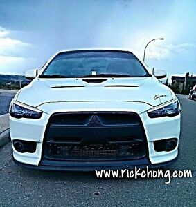 2009 To 2016 Mitsubishi Lancer Ralliart Gt Front Nose Overlay Ralliart X Style